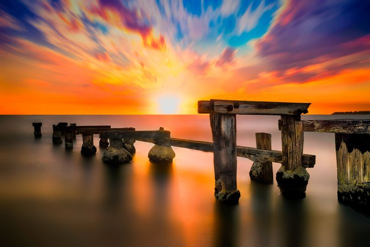 Fire on the Mentone Beach by Tony Nguyen on 500px