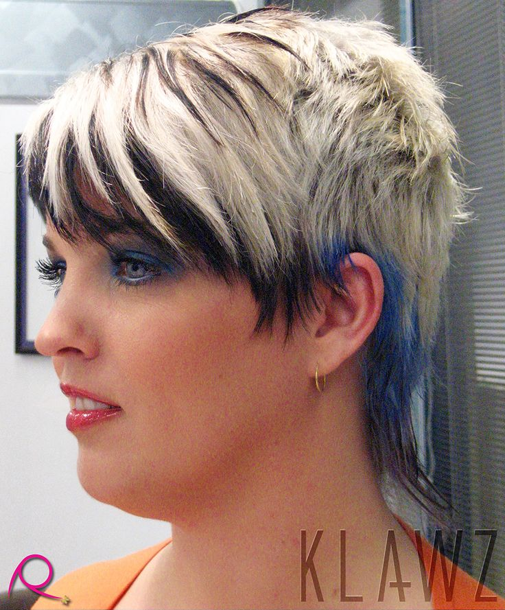 Short Hair - Platinum Blonde, Blue and Black