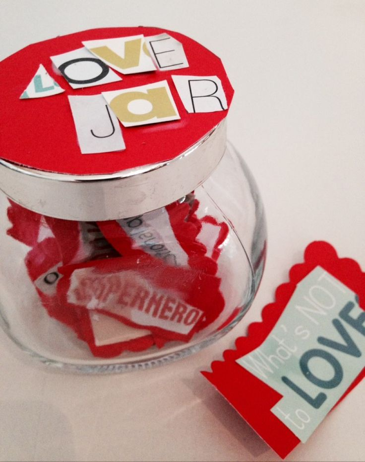 How to make a Love Jar . A simple handmade Valentines gifts fiilled with messages of love