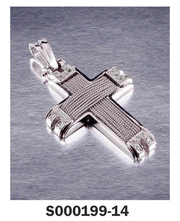 Cross White Gold 18-k