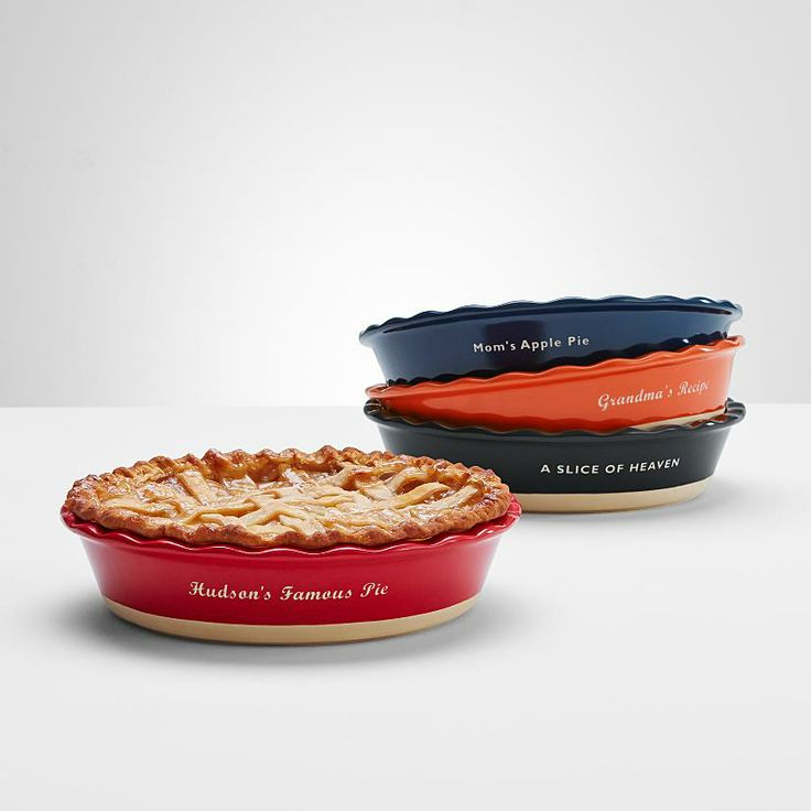 Celebrate Mom's Apple Pie with a personalized pie dish from RedEnvelope.com