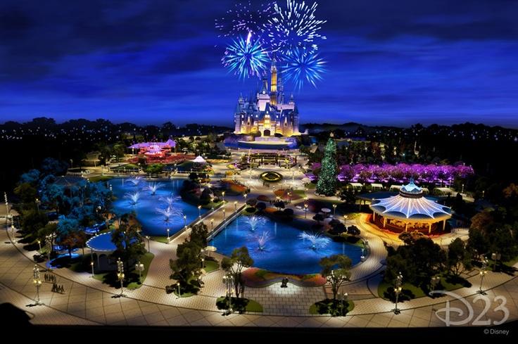 Model of Shanghai Disneyland Castle.
