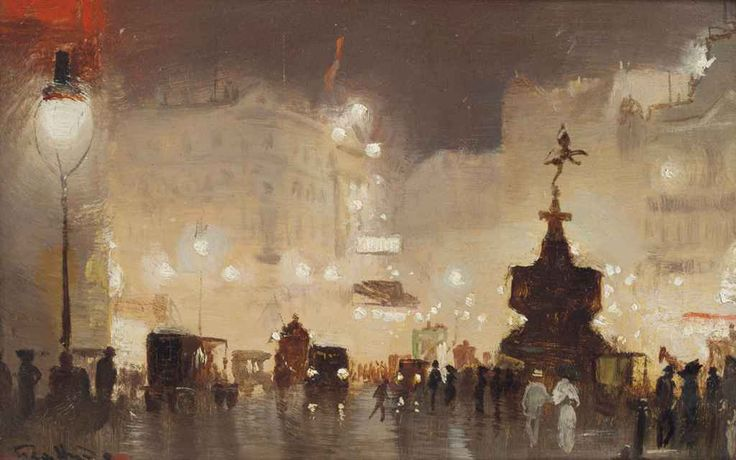 George Hyde Pownall (1876-1932) , Piccadilly Circus | Christie's