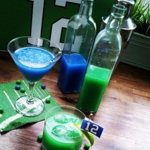 Vodka+Skittles=Seahawks Pride @Allrecipes Show support for any team by using the coordinating Skittles colors