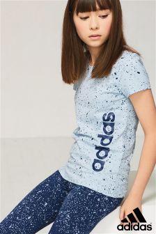 adidas Blue Speckle T-Shirt