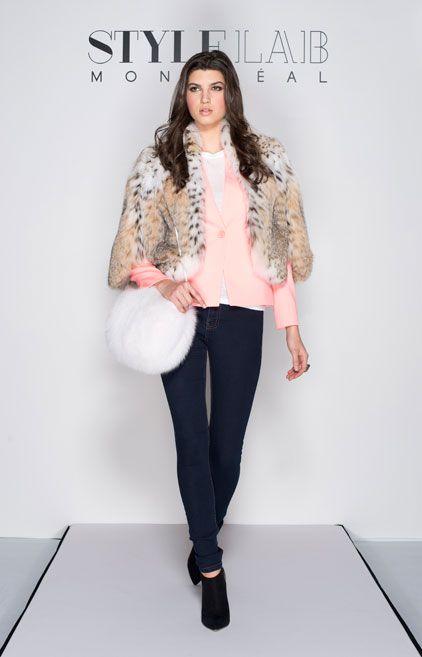 #LOTD by #TheStyleMogul  Lynx cat bolero - #ArgiriouFurs / Coral blazer - #TedBaker / Organic cotton t-shirt - #SBase /  White Fox muff - #LUNAFURS / Ring – #CollectionChantaleBeaudet