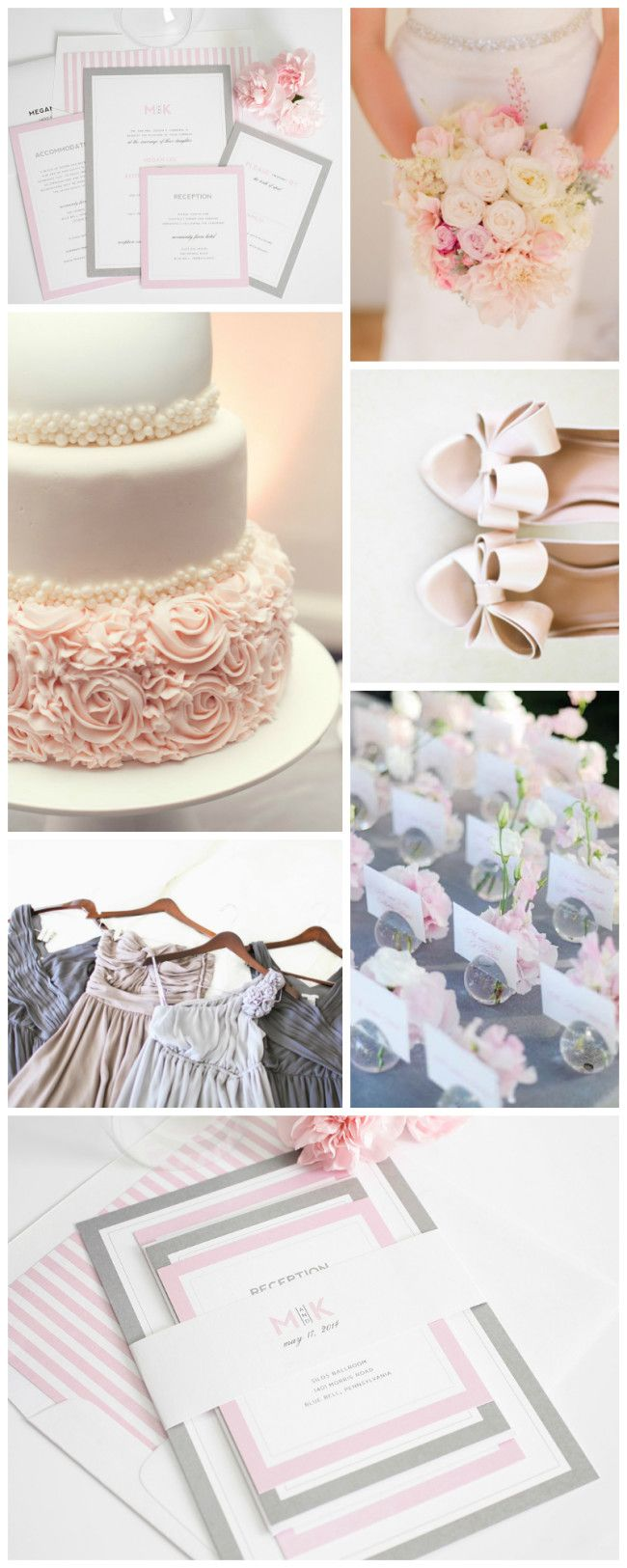 Gorgeous Pink and Grey Wedding Inspiration! Pink and Grey creates a soft romantic feel! #pinkandgreyweddinginspiration #pinkandgrey #pinkandgray