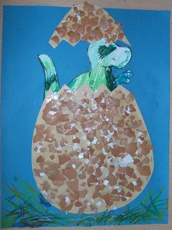 dinosaures : brico oeuf dino                                                                                                                                                                                 Plus