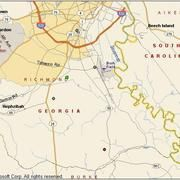 Map of Augusta Georgia groundwater wells