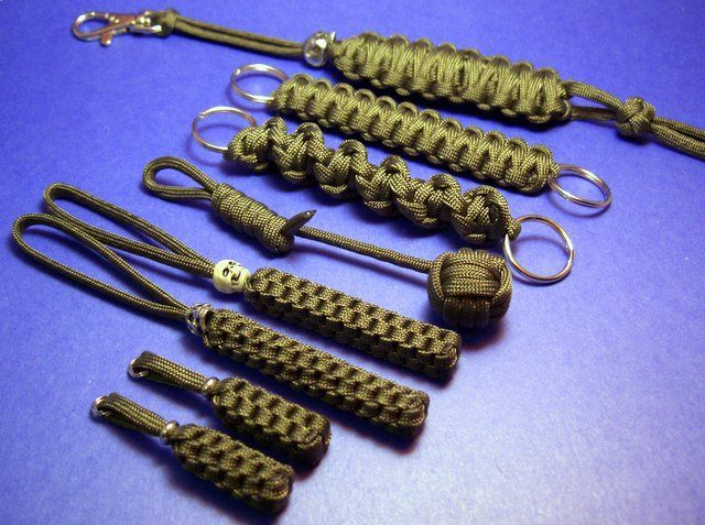 Key fobs and lanyards