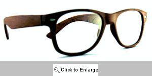 Wood Grain Reading Glasses - 287 Medium Brown