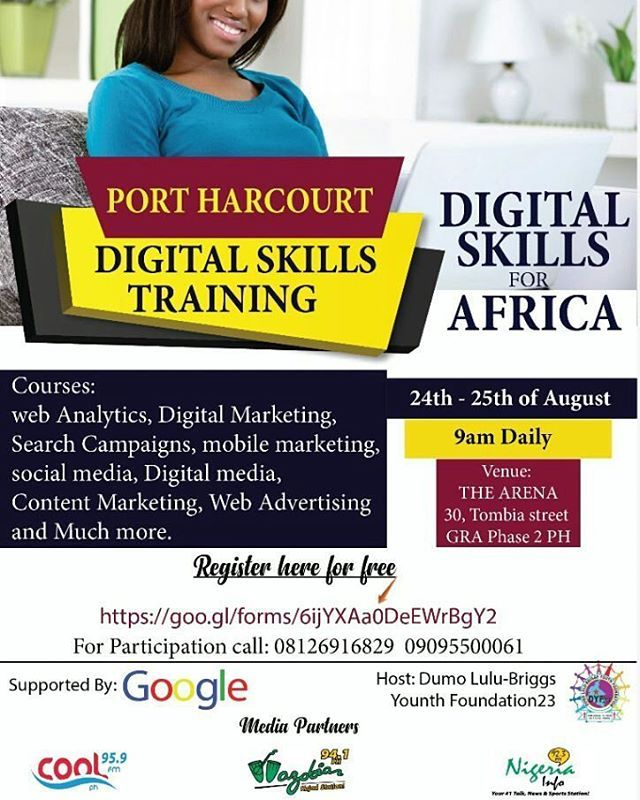 """""""#BelikeWils Having a """"good University degree"""" is no longer sufficient in Nigeria's job market these days. You need to be equipped with creative skills that can earn you additional income.  Google Digital Skills Training! On a scale of 1-10 , how do you rate your digital Literacy? Regardless of your profession, personality you need digital skills to stay afloat because in today's world, almost every job has a digital element. COURSES #DigitalMarketing #SocialMedia #SearchEngine #Webdesign…"""