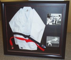idea for the shadow box honor my dad's martial arts contribution for the karate school