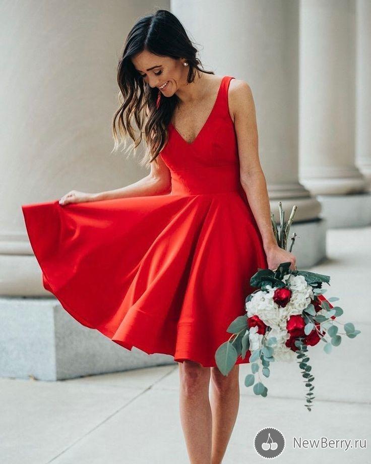 Платья красного цветы картинки