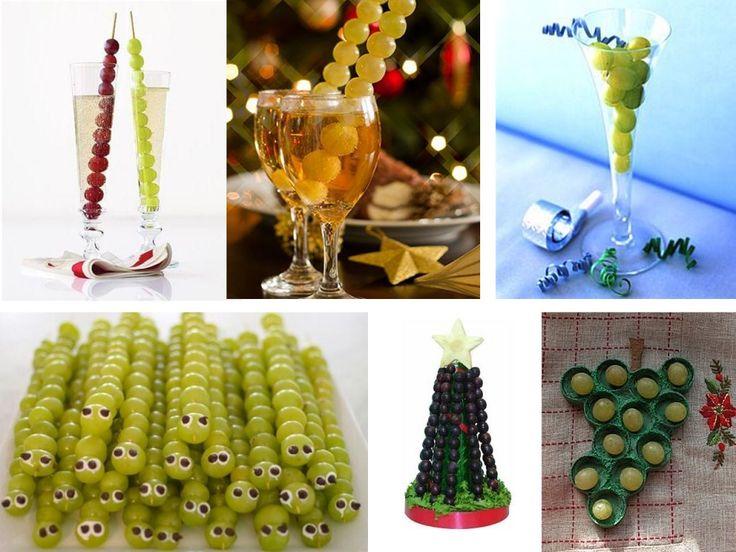 Resultado de imagen para decoracion para esperar el ano nuevo con uvas verdes