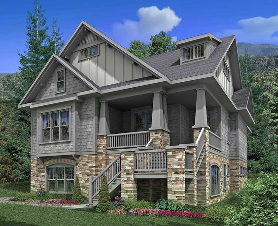 Vacation Living with Year Round Comforts - 92047VS | 1st Floor Master Suite, Craftsman, Den-Office-Library-Study, Elevator, Jack & Jill Bath, Loft, Media-Game-Home Theater, Narrow Lot, Northwest, PDF, Sloping Lot | Architectural Designs