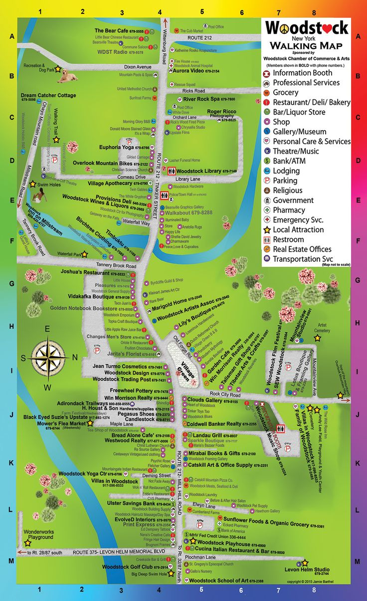 Walking Map of Woodstock