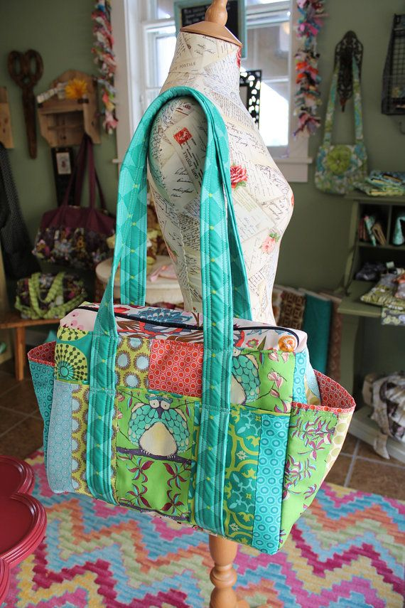 Unisex Patchwork Diaper Bag Nappy Tote Custom by WatermelonWishes