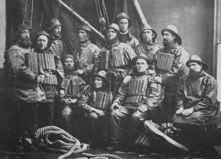 Crew of the Ramsgate Lifeboat, image copyright of the Ramsgate Maritime Museum and used by kind permission