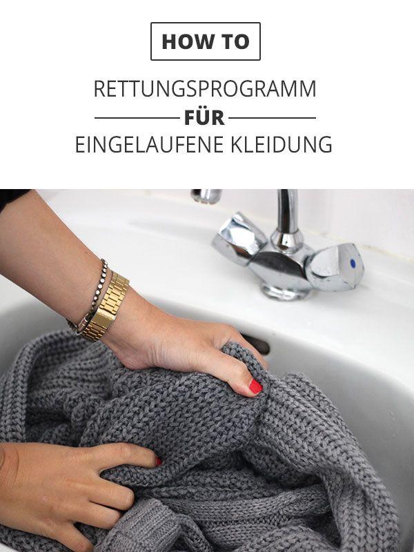 Sollte beim Wäschewaschen mal etwas schief gelaufen sein, hilft speziell bei Strickwaren aus Wolle, Baumwolle und Kaschmir unser Notfallprogramm.