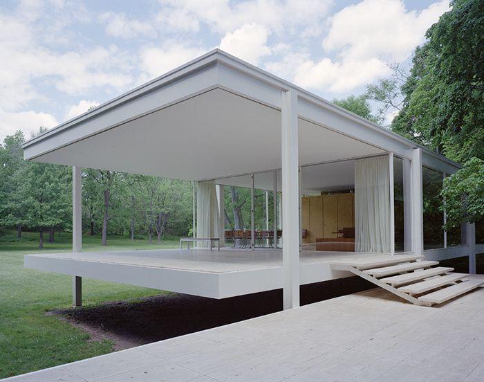 Les maisons d'architectes a visiter : La Farnsworth House de Mies Van der Rohe