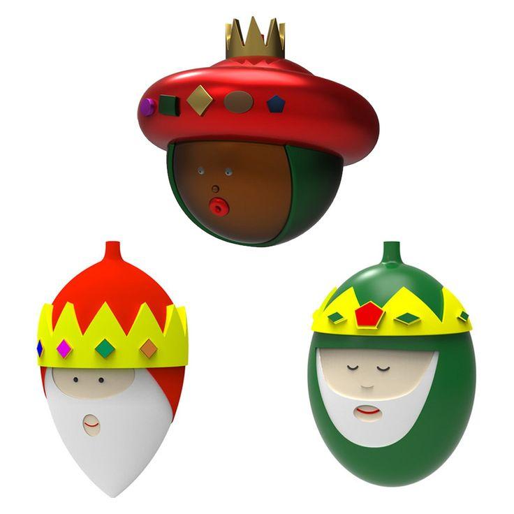 De Tre Vise Menn ornament fra Alessi, designet av Marcello Jori. Tre søte juleornament å h... 510kr