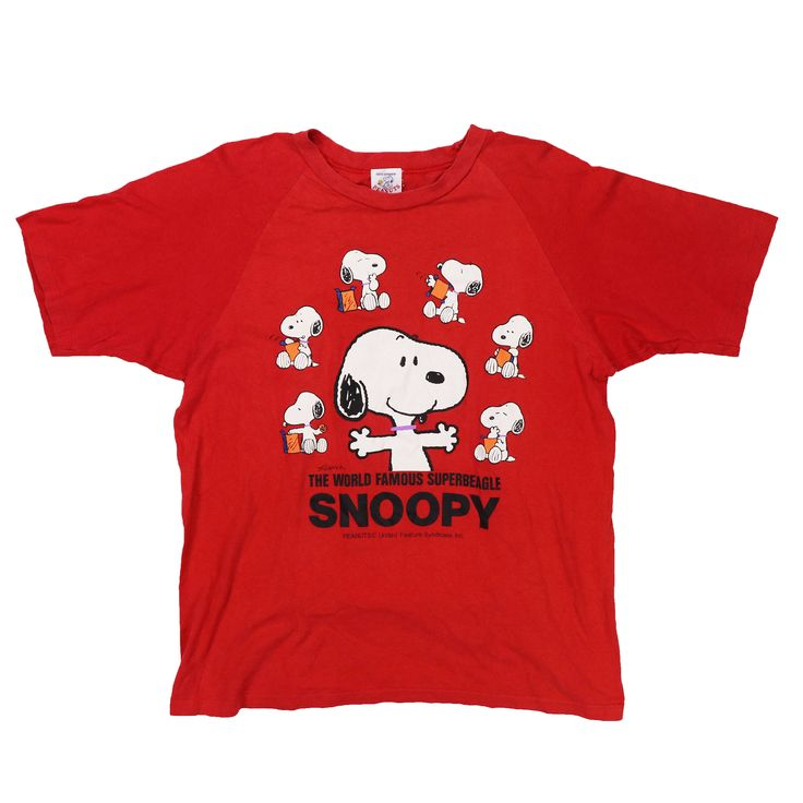 Excited to share the latest addition to my #etsy shop: Vintage SNOOPY T Shirt #clothing #women #tshirt #red #vintage #snoopy #80s #90s #sizem