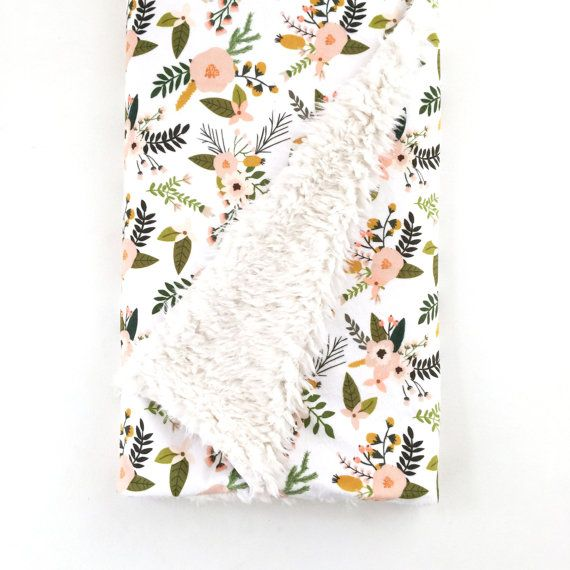 Hey, I found this really awesome Etsy listing at https://www.etsy.com/listing/264734717/baby-blanket-blush-sprigs-and-blooms-the