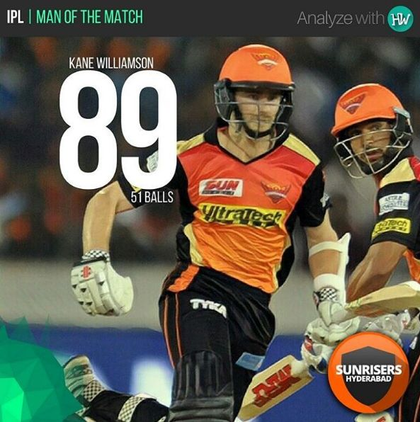 Kane Williamson got to play his first match of the season and he made this opportunity count! #IPL10 #IPL2017 #SRHvDD #cricket