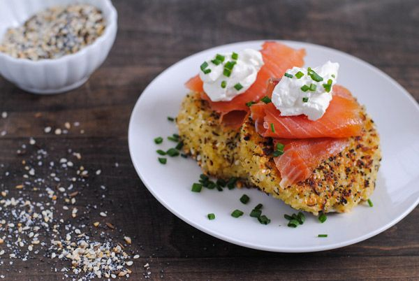 ... Quinoa Cakes with Smoked Salmon & Crème Fraîche - Cooking Quinoa
