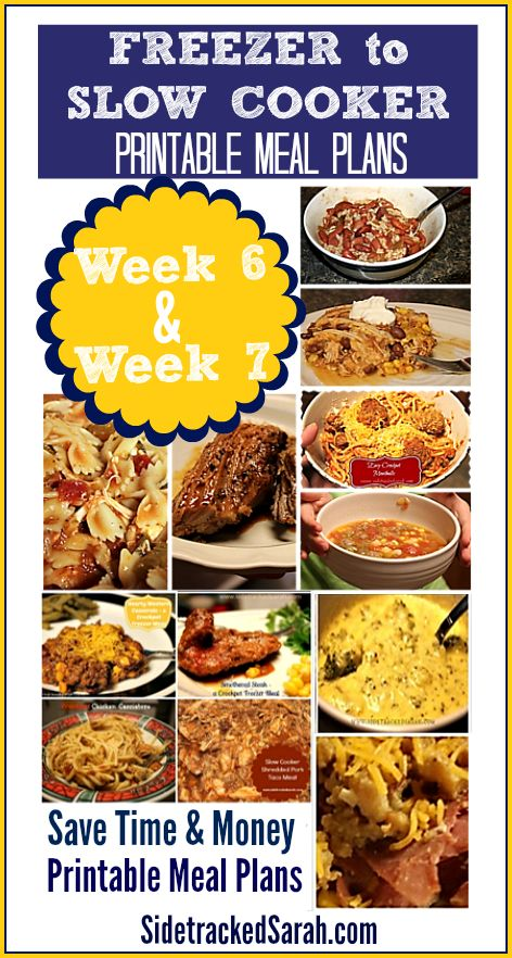 Week 6 & 7 Printable Meal Plans - save time and money with meal plans, shopping lists & recipes - printables available!