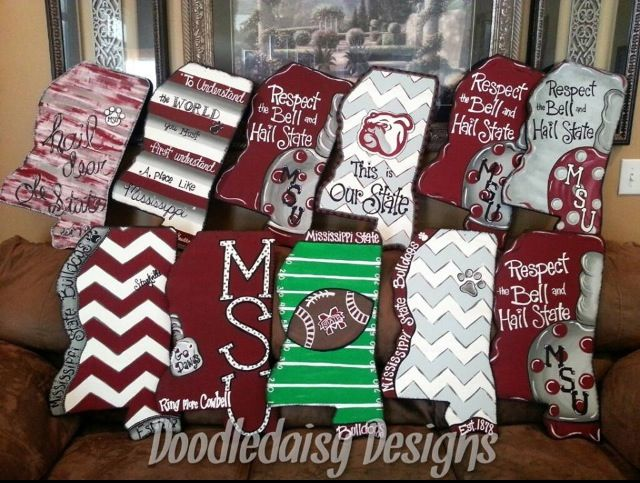 Mississippi State wooden door hangers & 900+ best A \