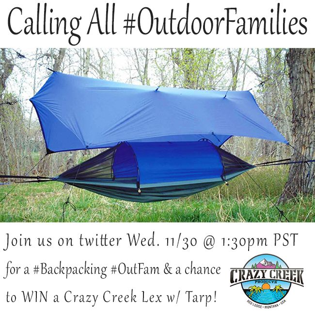join us for the  outfam tweetchat and be entered to win a hammock tent from 33 best giveaways images on pinterest   giveaways christmas      rh   pinterest