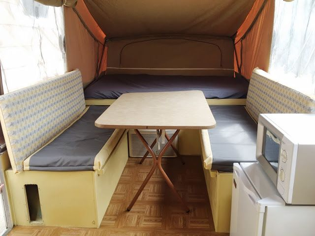 our pop up camper renovation and decor!  Buttons & Bows