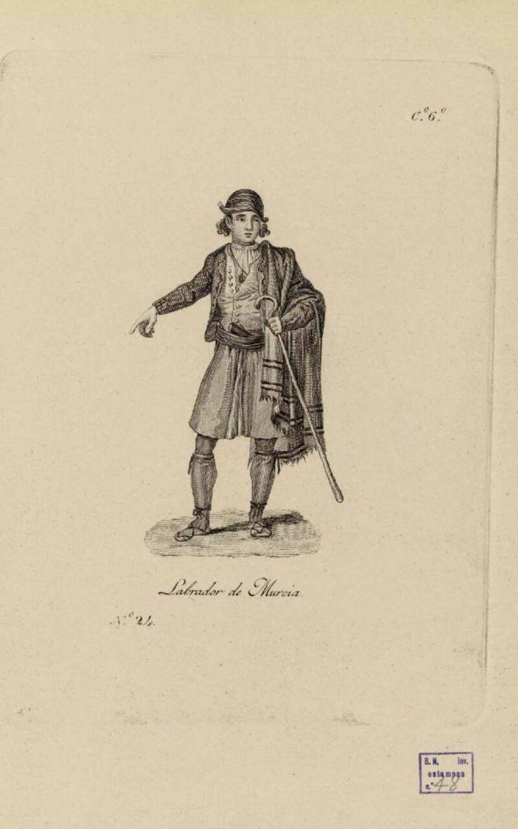 Dibujos y Grabados, 1825. Labrador de Murcia. Biblioteca Digital Hispánica.