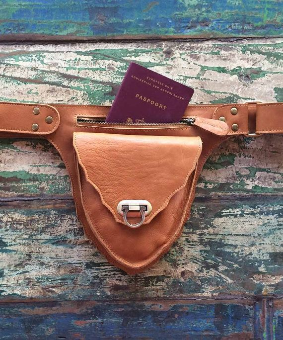 Leather belt bag / Hip bag / Leather fanny bags / by InfinityWears