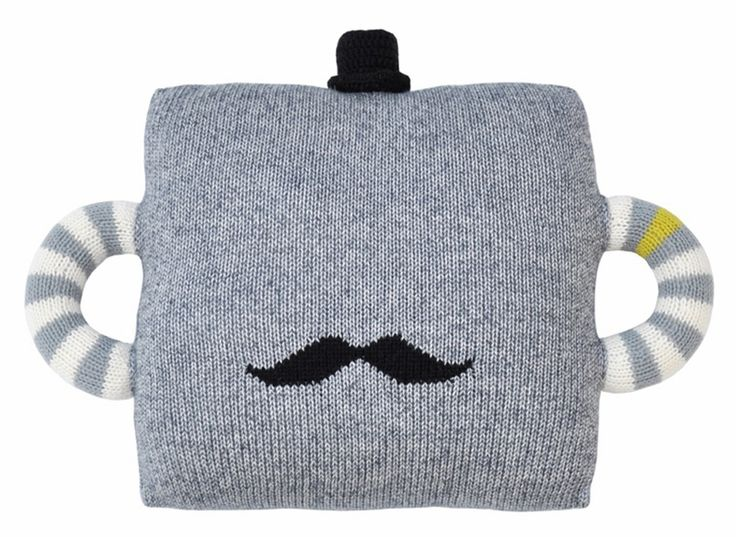 Hold Me Tight Mustache Pillow - so cuddly and whimsical!