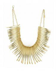 Maxi collar de púas - Dorado. Gold spike necklace