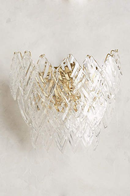 Glass Frond Sconce - anthropologie.com