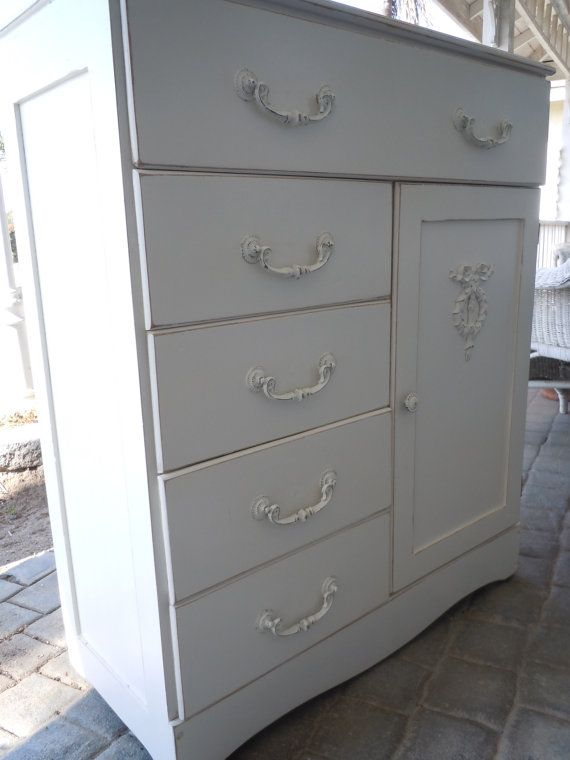Antique Shabby Chic Chifferobe or Highboy by LaChicVintageCloset, $349.95