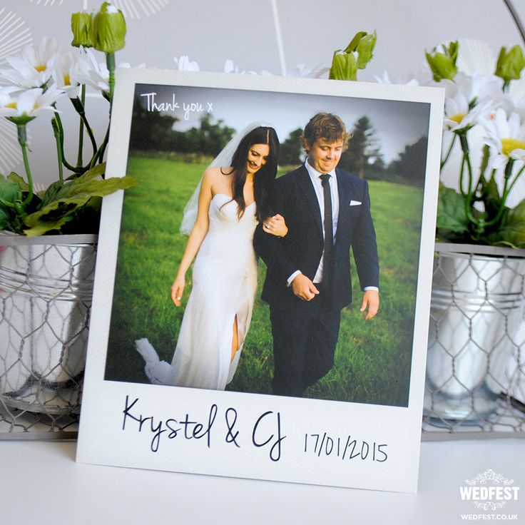 personalized wedding thank you notes%0A vintage polaroid wedding thank you card  wedfest  http   www wedfest