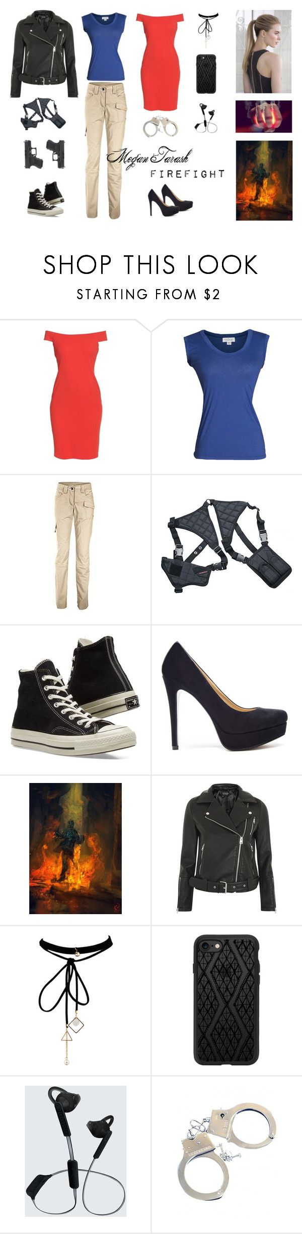 """The Reckoners Style: Megan Tarash / Firefight"" by estrellesdpaper ❤ liked on Polyvore featuring Eliza J, Velvet by Graham & Spencer, Universal, Converse, Chinese Laundry, Topshop, WithChic, Casetify, Urbanista and reckoners"
