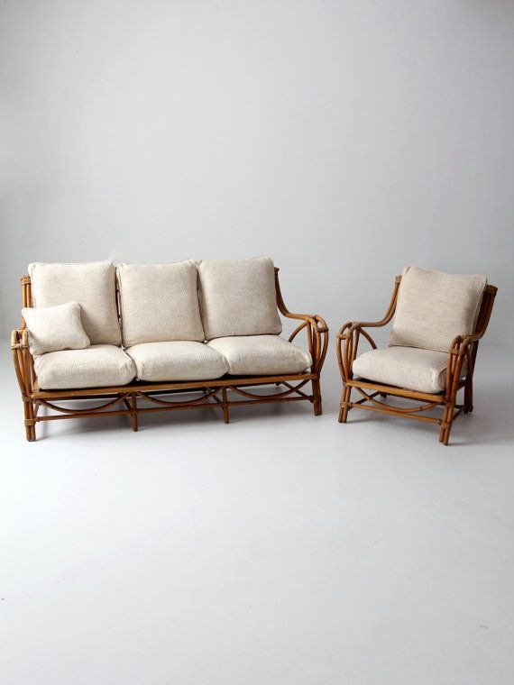 vintage rattan furniture set couch and chair bamboo with by 86home