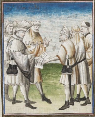 "The ""Conspiracy of Catilin"" and the ""Jugurthine War"" by Sallust c1420  folio 15r Ms. lat. 54 Bibliothèque de Genève"