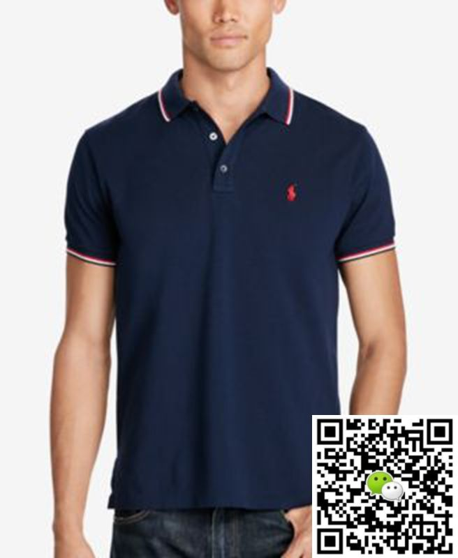 8877719e3b28 Polo Ralph Lauren Men s Custom-Slim-Fit Mesh Polo - Polos Navy ...