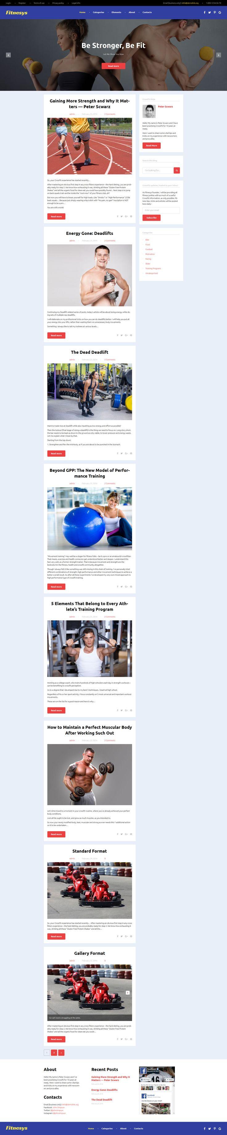 Fitnesys Fitness u0026 Gym Blog WordPress