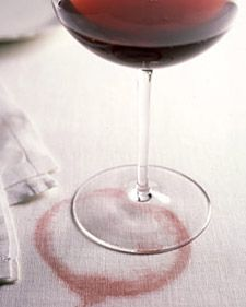 Absolute best tip for removing a red wine stain. Just in time for fall entertaining.