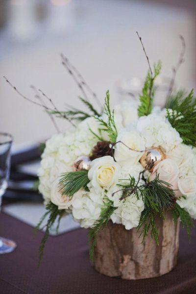 Winter Wedding Decor: Pine | Intimate Weddings - Small Wedding Blog - DIY Wedding Ideas for Small and Intimate Weddings - Real Small Weddings