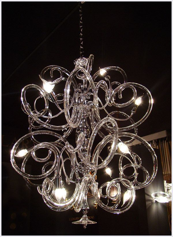 I wish my ceilings were high enough to have just one girly, fanciful chandelier.