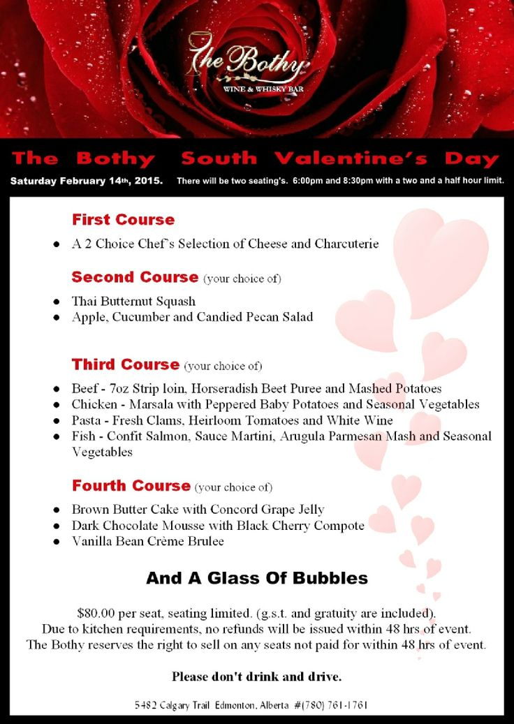 The Bothy South's Valentine's Day Event